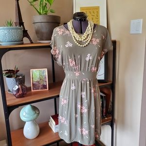 Apricot Grey and Pink Dress